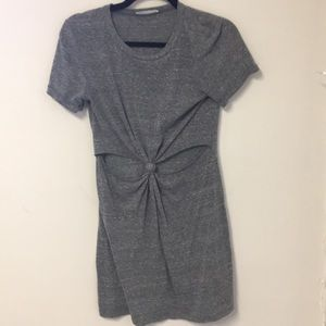 Urban Outfitters Grey Tie Knot Keyhole Dress